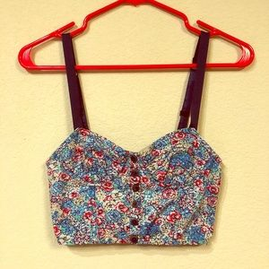 Floral Bustier style crop top